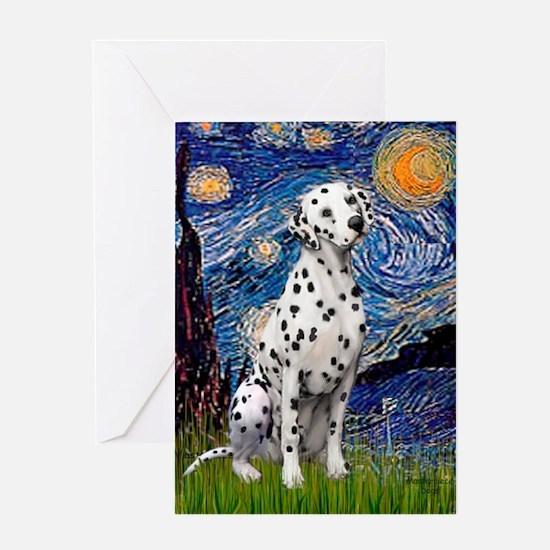 Starry / Dalmatian #1 Greeting Card