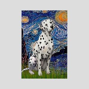 Starry / Dalmatian #1 Rectangle Magnet