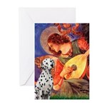 Mandolin / Dalmatian #1 Greeting Cards (Pk of 10)