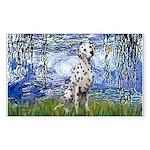 Lilies / Dalmatian #1 Sticker (Rectangle 50 pk)