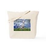 Lilies / Dalmatian #1 Tote Bag