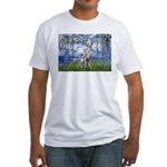 Lilies / Dalmatian #1 Fitted T-Shirt