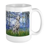 Lilies / Dalmatian #1 Large Mug