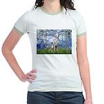 Lilies / Dalmatian #1 Jr. Ringer T-Shirt