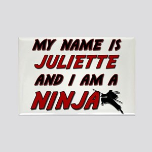 my name is juliette and i am a ninja Rectangle Mag
