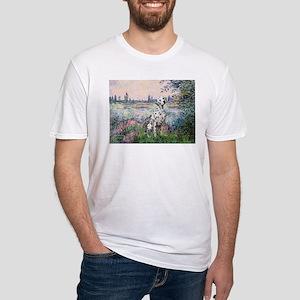 Seine / Dalmatian #1 Fitted T-Shirt
