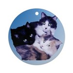 Kitty Cats Unique Ornament (Round)