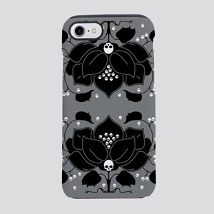 lily-skull_j iPhone 7 Tough Case