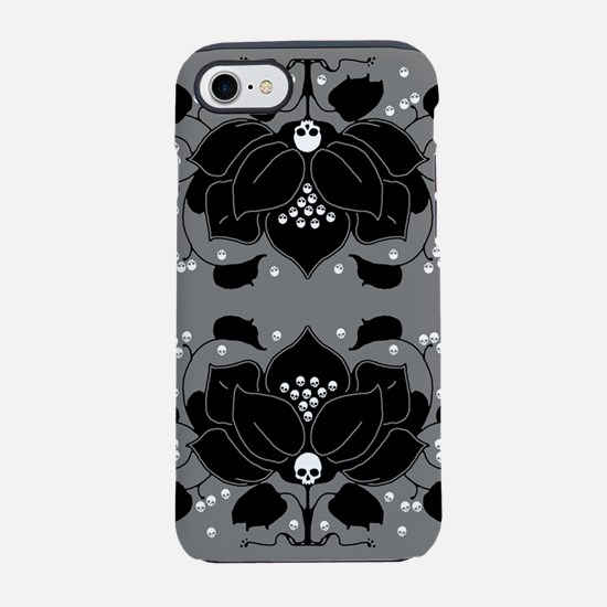 lily-skull_j.png iPhone 7 Tough Case
