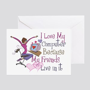 Online Friends Greeting Card