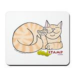 Orange Tabby ASL Kitty Mousepad