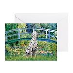 Bridge / Dalmatian #1 Greeting Cards (Pk of 10)