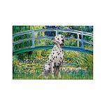 Bridge / Dalmatian #1 Rectangle Magnet (10 pack)