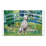 Bridge / Dalmatian #1 Sticker (Rectangle)