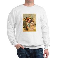 Vase / Lhasa Apso #9 Sweatshirt