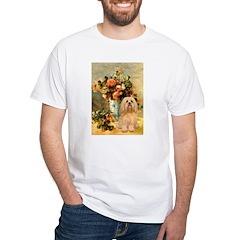 Vase / Lhasa Apso #9 White T-Shirt