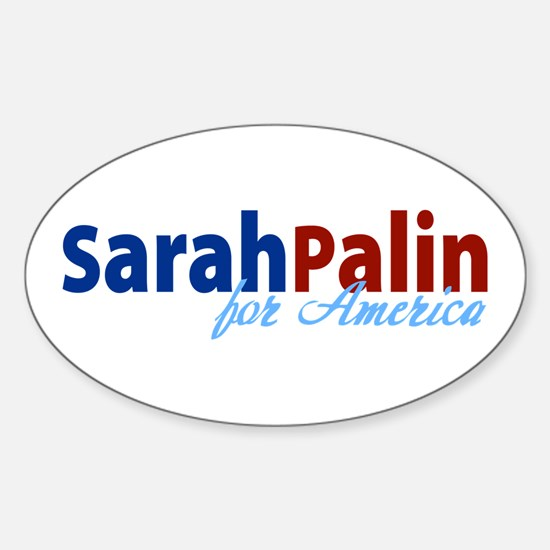 Sarah Palin for America Oval Decal
