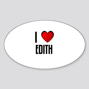 I LOVE EDITH Oval Sticker