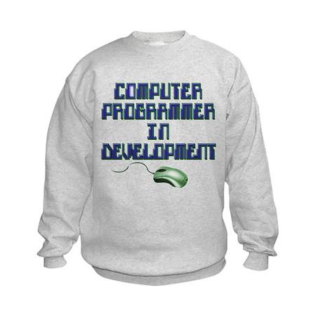 future computer programmer Kids Sweatshirt