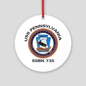 USS Pennsylvania SSBN 735 Ornament (Round)