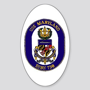 USS Maryland SSBN 738 Oval Sticker