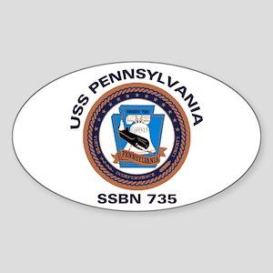 USS Pennsylvania SSBN 735 Oval Sticker