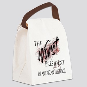 Worst President in American History Canvas Lunch B