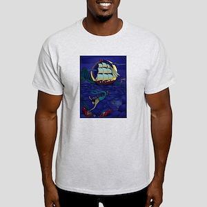 Pirate Mermaid Ash Grey T-Shirt