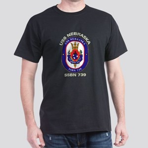 USS Nebraska SSBN 739 Dark T-Shirt