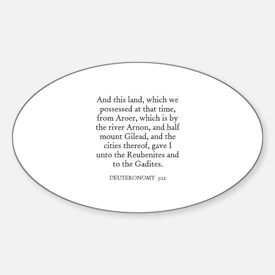 DEUTERONOMY 3:12 Oval Decal