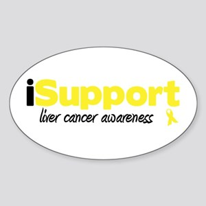 iSupport Liver Cancer Oval Sticker