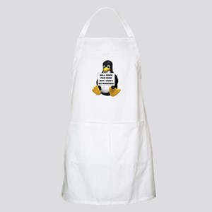I Don't Do Windows! BBQ Apron