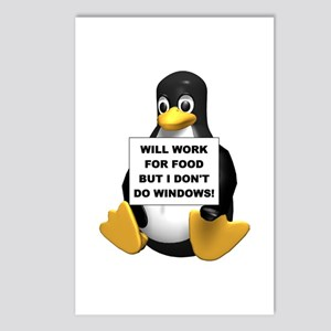I Don't Do Windows! Postcards (Package of 8)