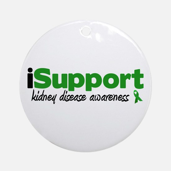 iSupport Kidney Disease Ornament (Round)