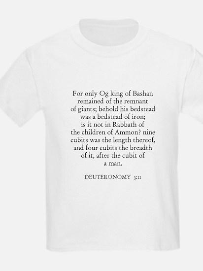 DEUTERONOMY  3:11 Kids T-Shirt