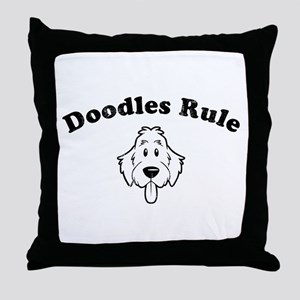 Doodles Rule Throw Pillow