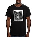 Rough Collie Men's Fitted T-Shirt (dark)