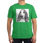 Basset Hound Men's Fitted T-Shirt (dark)