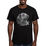 Long-Haired Dachshund Men's Fitted T-Shirt (dark)
