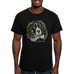 Cocker Spaniel (Parti-color) Men's Fitted T-Shirt