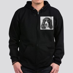 English Springer Spaniel Zip Hoodie (dark)