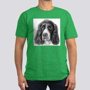 English Springer Spaniel Men's Fitted T-Shirt (dar