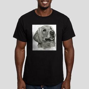 Golden Retriever Men's Fitted T-Shirt (dark)
