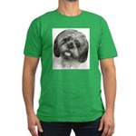 Shih Tzu Men's Fitted T-Shirt (dark)