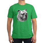 English Bulldog Men's Fitted T-Shirt (dark)
