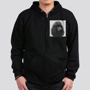 Black or Chocolate Poodle Zip Hoodie (dark)