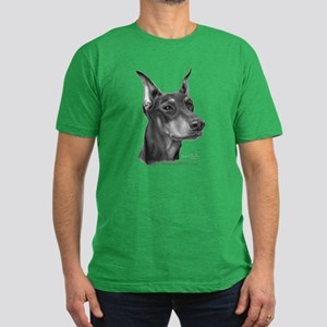 Doberman Pinscher Men's Fitted T-Shirt (dark)