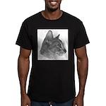 Abysinnian Cat Men's Fitted T-Shirt (dark)