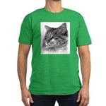 Maine Coon Cat Men's Fitted T-Shirt (dark)