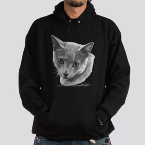 Russian Blue Cat Hoodie (dark)